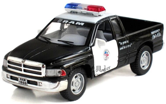 Black 1:36 Kids Diecast Dodge RAM 1500 Pickup Truck Toy