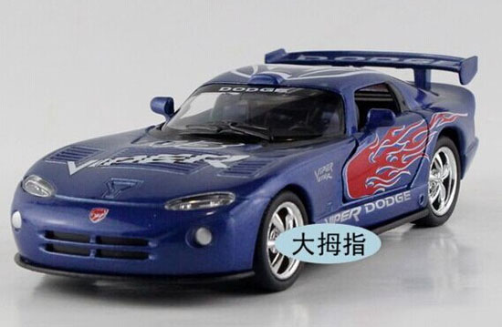 Black / White / Red / Blue Kids Diecast Dodge Viper GTS-R Toy
