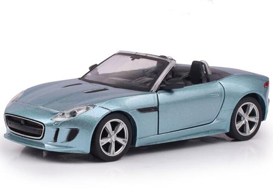 Blue / White / Orange Kids Diecast Jaguar F-Type Toy