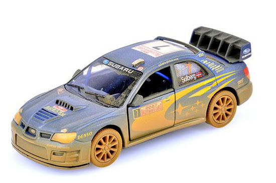 Kids Blue Muddy NO.7 Diecast Subaru IMPREZA WRC Toy
