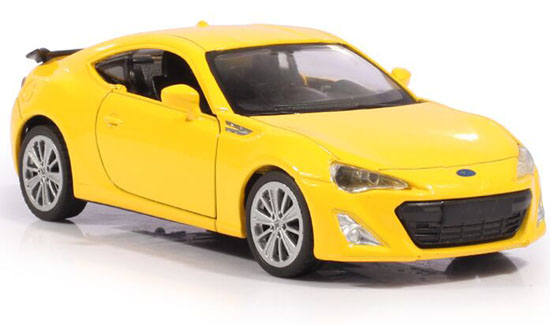 Kids 1:36 Blue / Yellow/ Black Diecast Subaru BRZ Toy