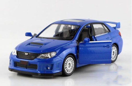 Blue / White / Red / Black 1:36 Dieast Subaru IMPREZA STI Toy