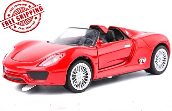 Blue / Red / Silver 1:32 Kids Diecast Porsche 918 Spyder Toy