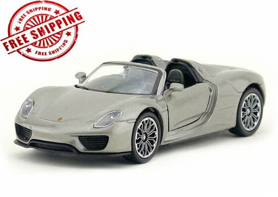 Kids Welly 1:36 Scale Diecast Porsche 918 Spyder Toy