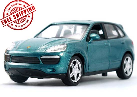 Gray / Yellow / Green 1:32 Kids Diecast Porsche Cayenne Toy
