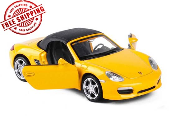Kids 1:32 Blue / Yellow / Red Diecast Porsche Boxster Toy