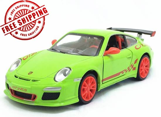 1:32 Green / White / Black Kids Diecast Porsche 911 GT3 Toy