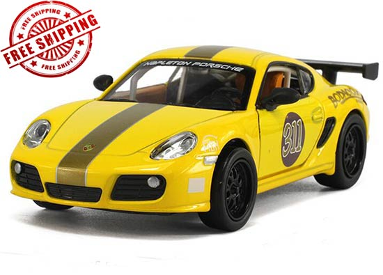 1:32 Kids Blue / Yellow Diecast Porsche Cayman Toy