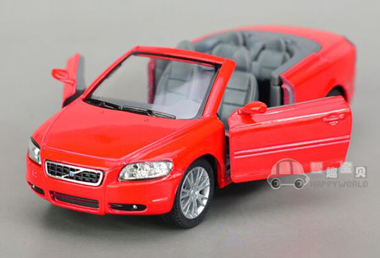 Kids 1:36 Champagne / Red / Silver / Blue Diecast Volvo C70 Toy
