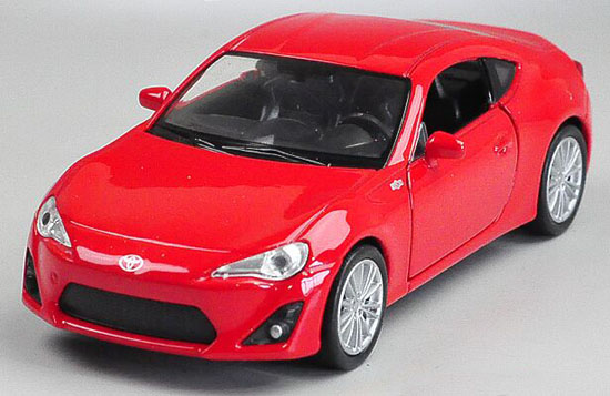 Red Pull-Back Function 1:36 Scale Welly Diecast Toyota 86 Toy