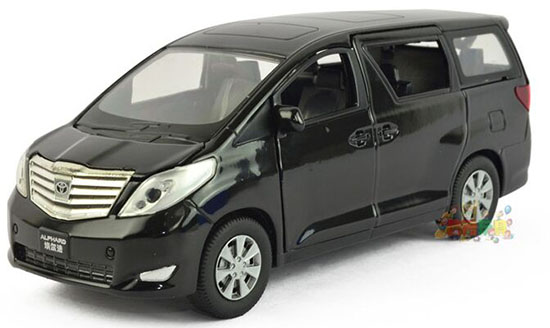 Kids White / Black 1:27 Diecast Toyota Alphard Toy