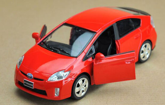 1 32 Red Silver White Black Diecast Toyota Prius Toy