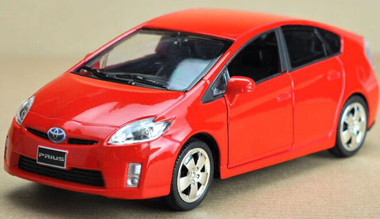 1:32 Red / Silver / White / Black Diecast Toyota Prius Toy