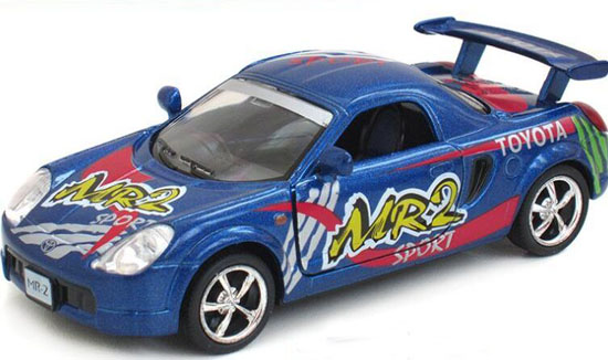1:36 Scale Kids Blue Diecast Toyota MR2 Toy