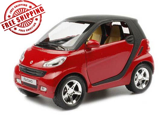 Orange / White / Red / Green / Yellow Diecast Smart Fortwo Toy