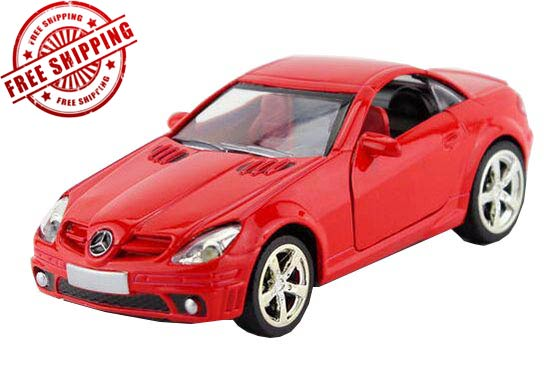 Red /White /Silver / Yellow Diecast Mercedes-Benz SLK 55 AMG Toy