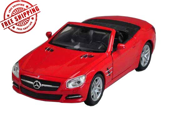1:36 Scale Kids Red Welly Diecast Mercedes-Benz SL500 Toy