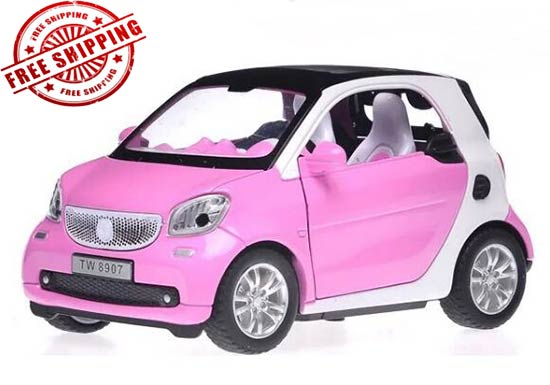Red /Blue /White / Pink 1:32 Scale Kids Diecast Smart Fortwo Toy