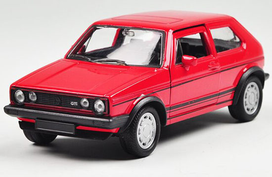 Kids Welly 1:36 Scale Red Diecast VW Golf GTI Toy
