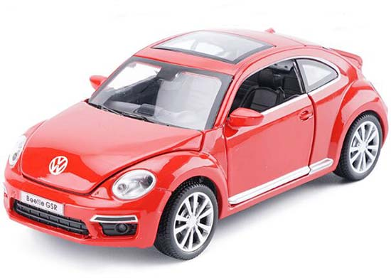 Red / Yellow / Blue / Green Kids 1:32 Diecast VW Beetle GSR Toy