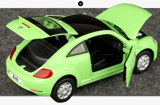 Red / Yellow / Green Kids 1:32 Scale Diecast VW Beetle Toy