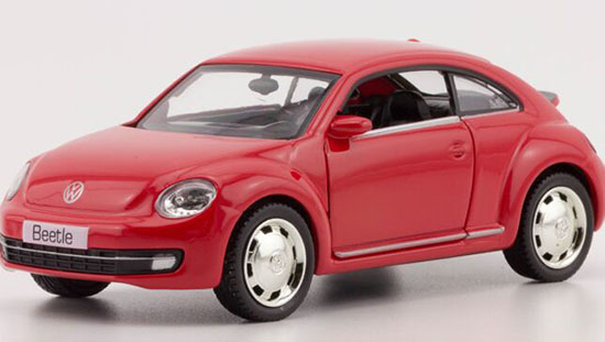 Red / Blue / White Kids 1:36 Scale Diecast VW Beetle Toy