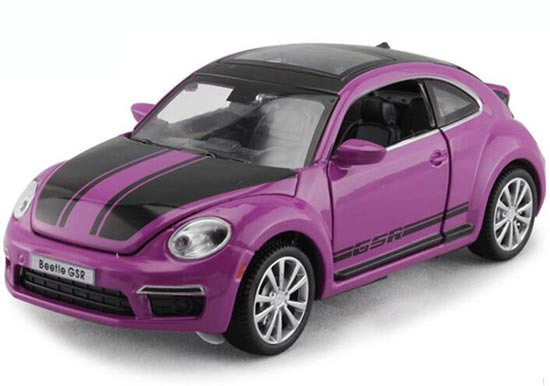 Kids 1:32 Red / Yellow / Purple Diecast VW Beetle GSR Toy