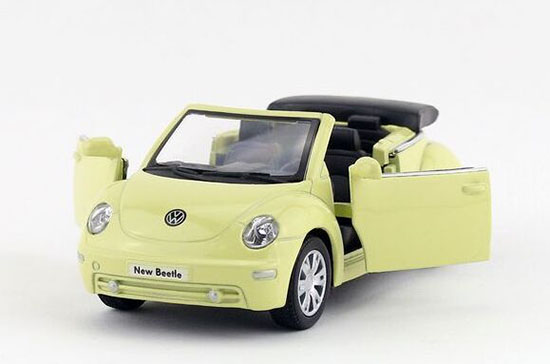 Kids Red / Black / Silver / Beige 1:32 Diecast VW New Beetle Toy