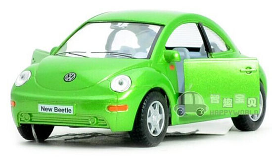 Red / Black / Green /Yellow Kids 1:32 Diecast VW New Beetle Toy