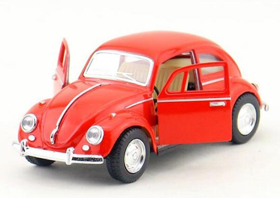 Red / Black /Yellow / Blue 1:32 Kids Diecast 1967 VW Beetle Toy