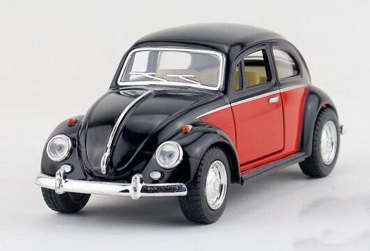 Kids 1:32 Red /Black / Orange / Blue Diecast 1967 VW Beetle Toy