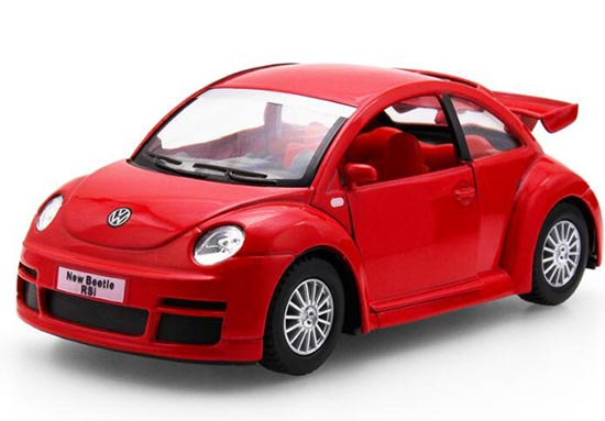 Black / Blue / Red / Silver 1:32 Diecast VW New Beetle RSI Toy
