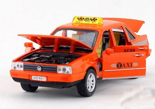 Red Yellow Green Orange 1 32 Diecast Vw Santana Taxi