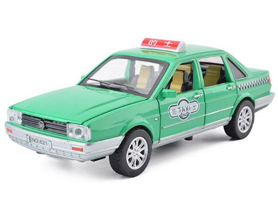 Kids 1:32 Scale Green Taxi Theme Diecast VW Santana Toy