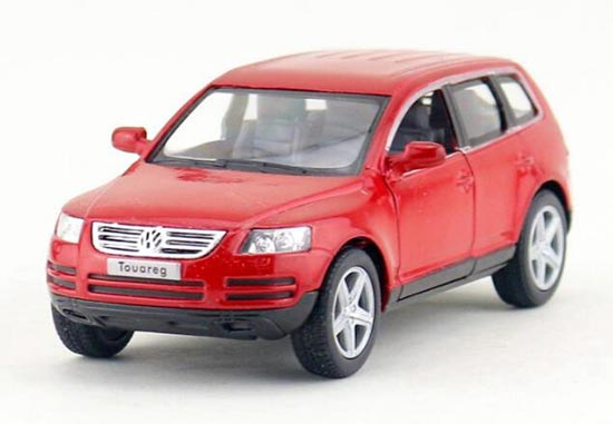Kids Silver / Black / Red / Gray 1:38 Diecast VW Touareg Toy