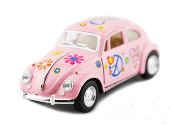 White / Blue / Pink / Yellow 1:32 Diecast 1967 VW Beetle Toy
