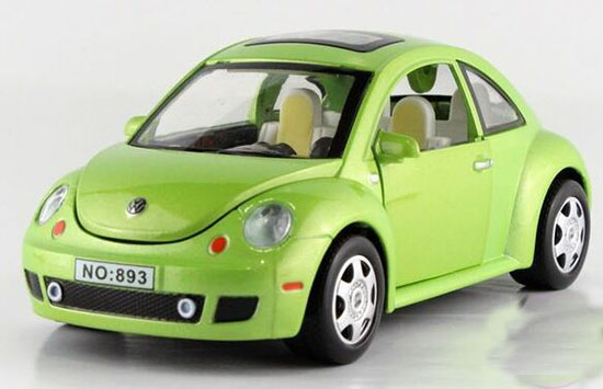 Yellow / Red / Green 1:32 Kids Diecast VW Beetle Toy