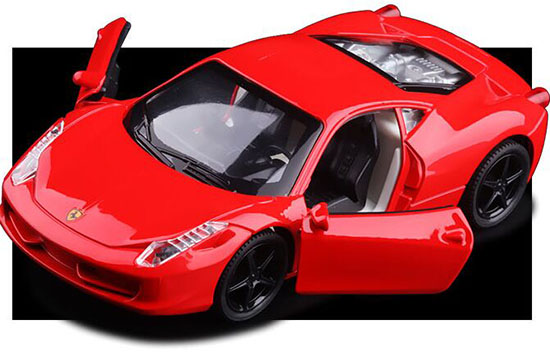 Kids 1:32 Scale Red Diecast Ferrari 458 Italia Toy