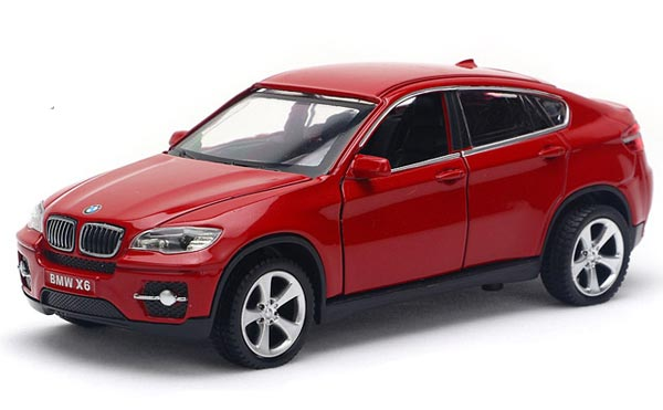 Red Black Blue Kids 1 32 Scale Diecast Bmw X6 Toy