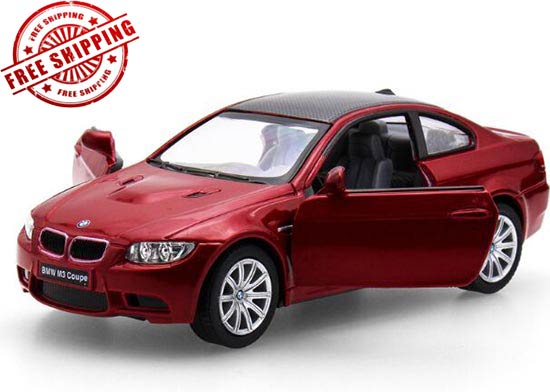 Silver / Black / Red / White Kids 1:36 Diecast BMW M3 Coupe Toy