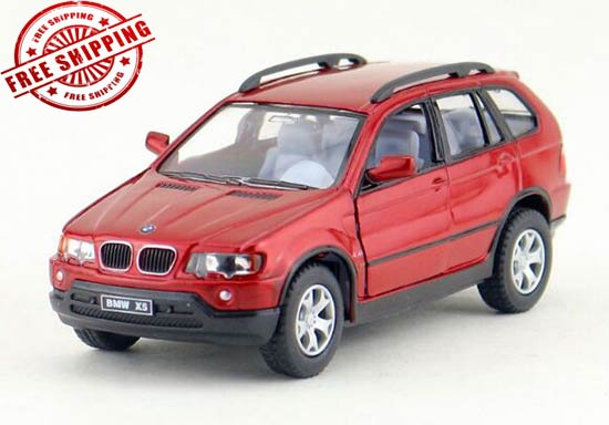 Blue / Black / Red Kids 1:36 Scale Diecast BMW X5 Toy