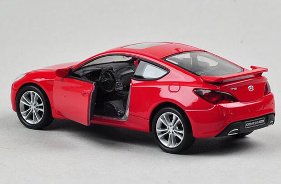 Red Kids 1:36 Scale Welly Diecast Hyundai Genesis Coupe Toy
