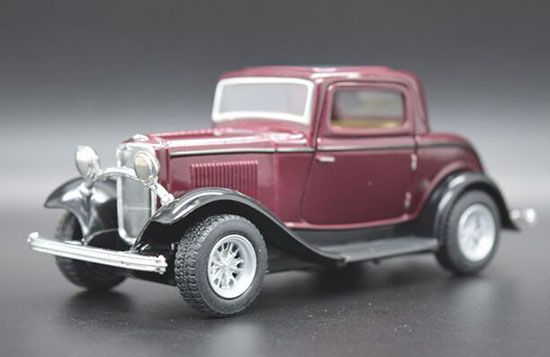 Kids Yellow / Red / Green /Purple Diecast Ford Window Coupe Toy