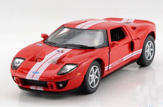 Yellow / Red / White / Black 1:36 Kids Diecast 2006 Ford GT Toy