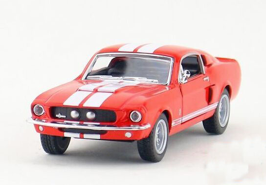 1:36 Kids White / Gray /Red / Blue Diecast 1967 Ford Shelby Toy