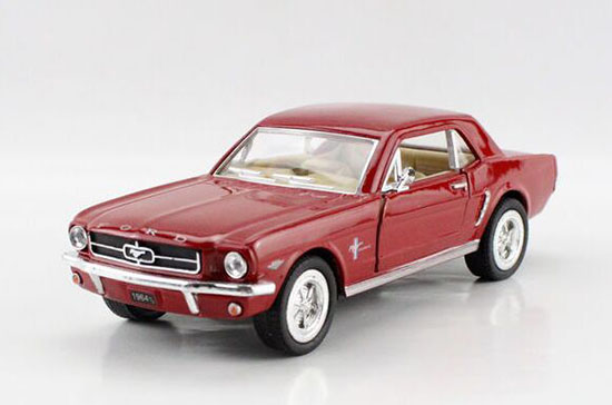 White /Black /Red /Blue 1:36 Kids Diecast 1964 Ford Mustang Toy