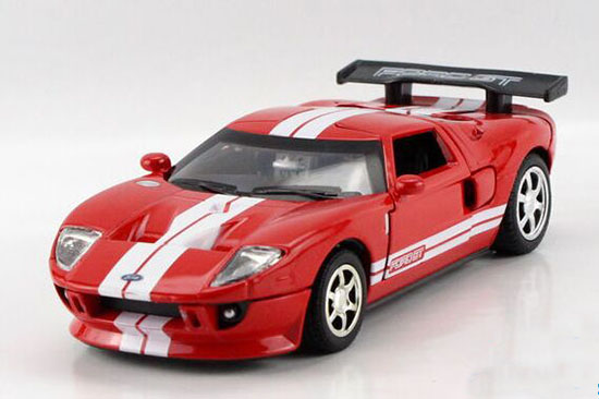 kids red white yellow gray diecast ford gt sports car toy