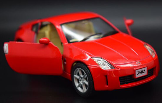 Kids 1:34 Scale Red / Silver / Blue Diecast Nissan 350Z Toy
