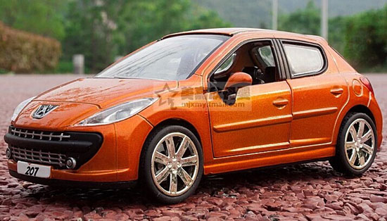 Orange / Red / Green / White Kids 1:32 Diecast Peugeot 207 Toy