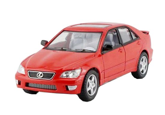 Red / Yellow / Black / Silver 1:36 Kids Diecast Lexus IS300 Toy